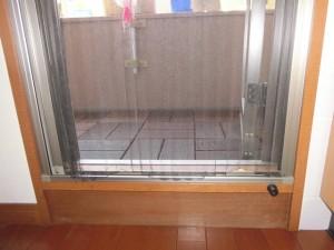 既設ドア網戸 下枠