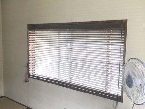 名古屋市西区 木製ブラインド施工 タチカワブラインド
