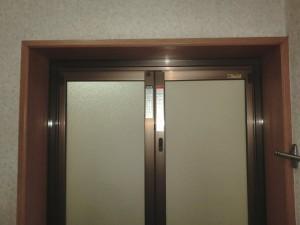 浴室ドア交換後 脱衣所側