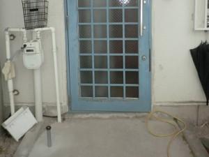 玄関ドア ガラス交換後