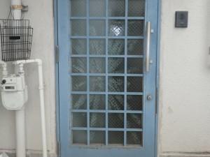 玄関ドア ガラス交換前