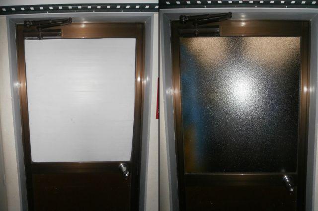 名古屋市中川区 ドアのガラス修理