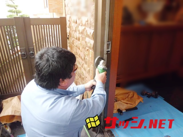 玄関ドアのリフォーム LIXILリシェントⅡ 防犯ガラス仕様 施工事例 名古屋市東区