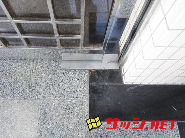マンションのオートロック付エントランスドアのフロアヒンジ取替 施工事例 名古屋市守山区