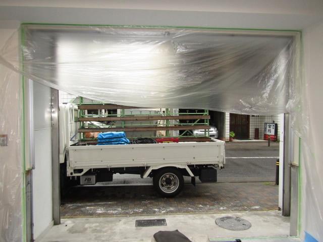 名古屋市中区 アルミサッシカバー工法 エントランス改修工事