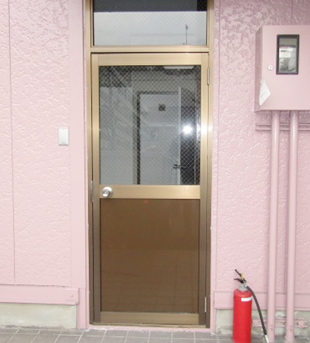 名古屋市港区 玄関アルミドア パネル交換