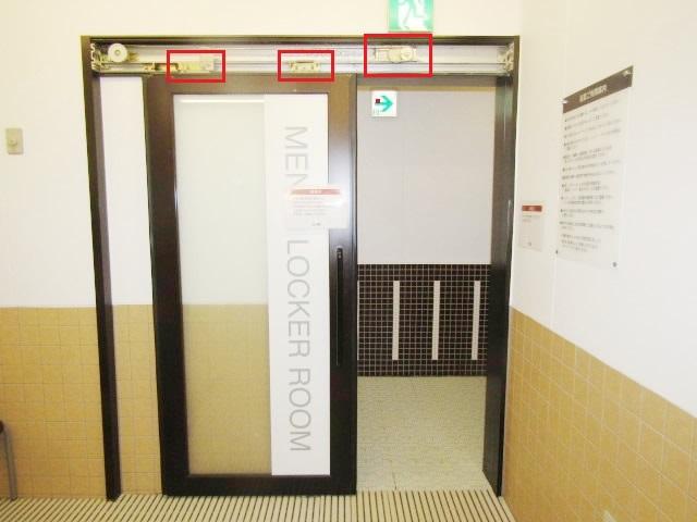 名古屋市瑞穂区 半自動ドア修理 DIA スライドクローザー部品取替