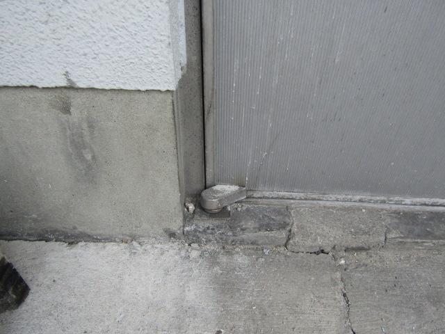 名古屋市北区 事務所 アルミドア取替 ロンカラーフラッシュドア