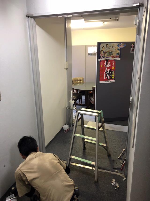 名古屋市中区 スチールドアから軽量スチールドアへ 取替工事