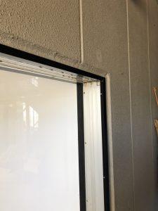 愛知県岡崎市 店舗入り口ドアの取替工事 カバー工法