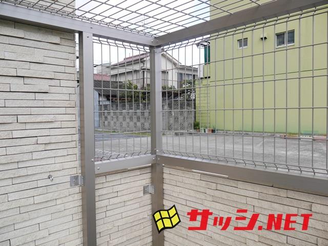 マンションのごみ収納庫 メッシュ引戸タイプ 自社オリジナル 名古屋市港区