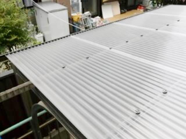 名古屋市西区 カーポート屋根 張り替え工事