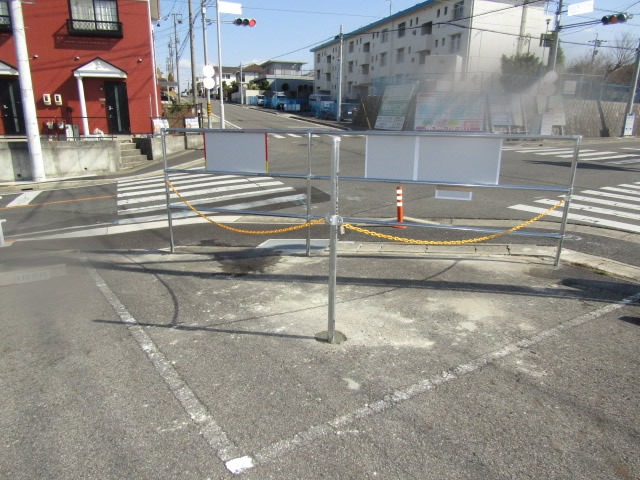 名古屋市名東区 駐車場 フェンス設置工事