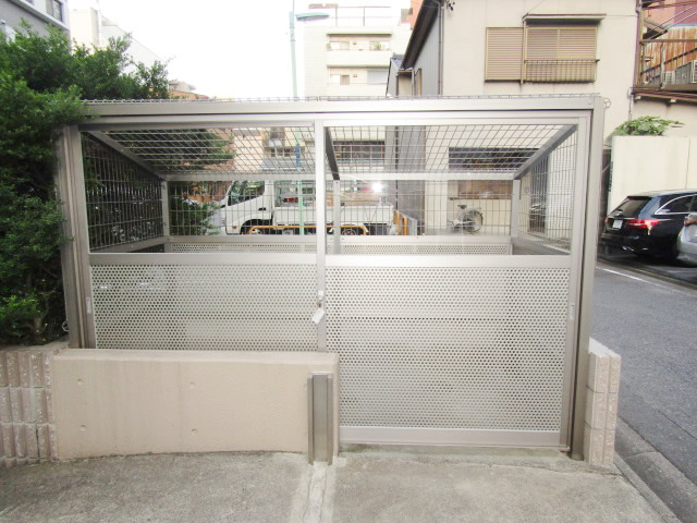 名古屋市中区 マンション ゴミ置き場 新設工事