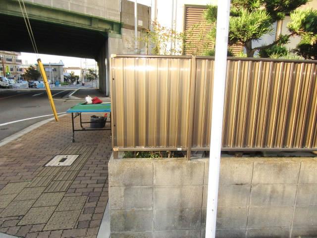 名古屋市港区 囲いフェンス取り替え修理 LIXIL