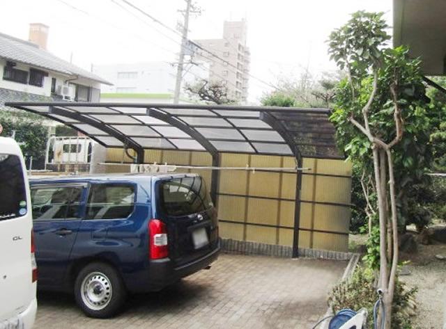 名古屋市西区 カーポート屋根張り替え工事