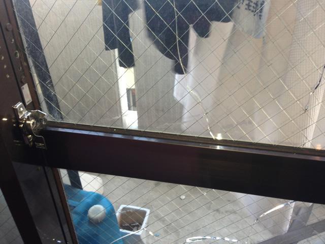 名古屋市港区 掃出し窓のガラス修理