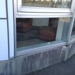 名古屋市南区 網入りガラスの修理、交換