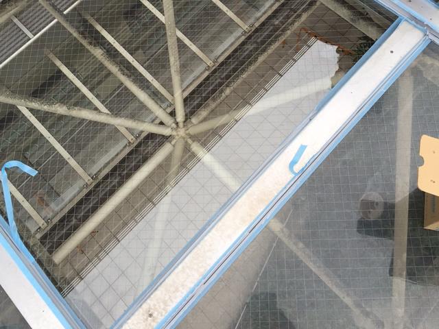 熱田区 トップライトガラス修理