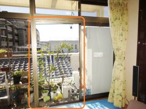 名古屋市 昭和区  掃出し窓 カバー工法