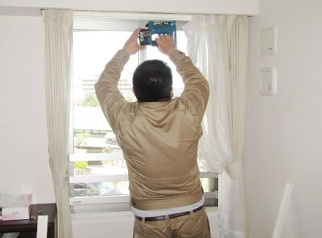 名古屋市瑞穂区 内窓プラスト KR型 ホワイト & 合わせ真空ガラス スペーシア静