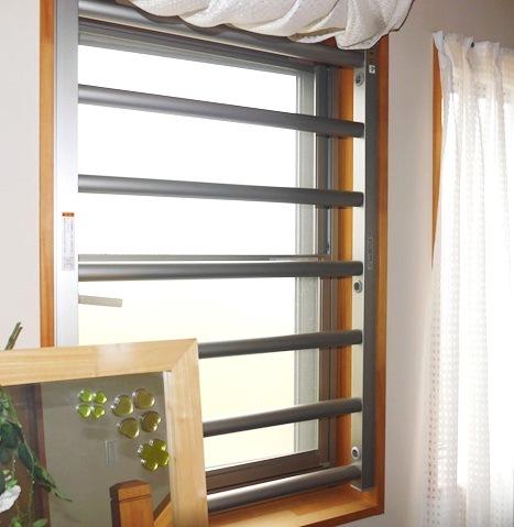 リクシル室内面格子 縦すべり出し窓の防犯対策 CP認定商品 大府市