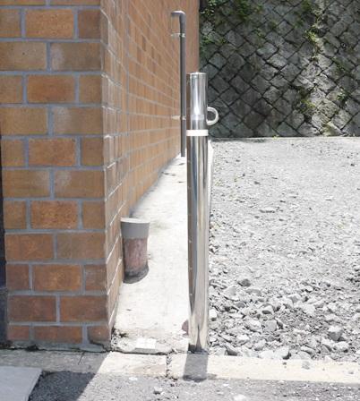 駐車場ステンポール工事 車の防犯対策 名古屋市中区