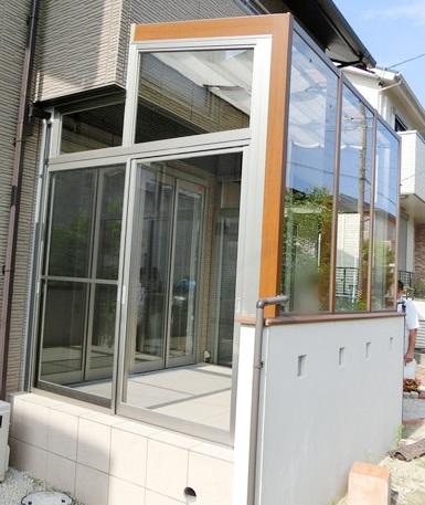 オープンサッシへの引戸取付工事 名古屋市名東区
