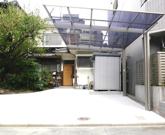 カーポート1台用 LIXILネスカFレギュラー 土間コンクリート工事 名古屋市中川区