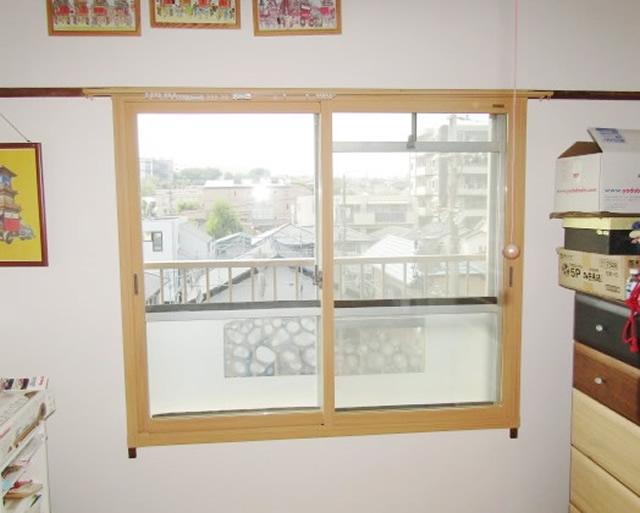 内窓「インプラス」、硝子「Low-E複層ガラス グリーン」取付工事