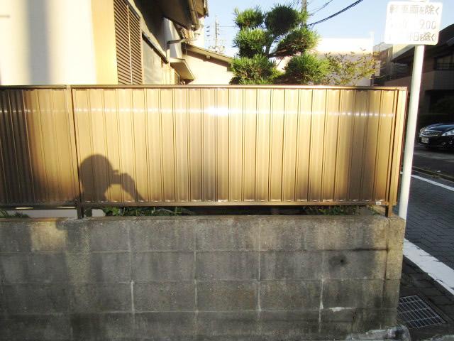 名古屋市港区 囲いフェンス修理