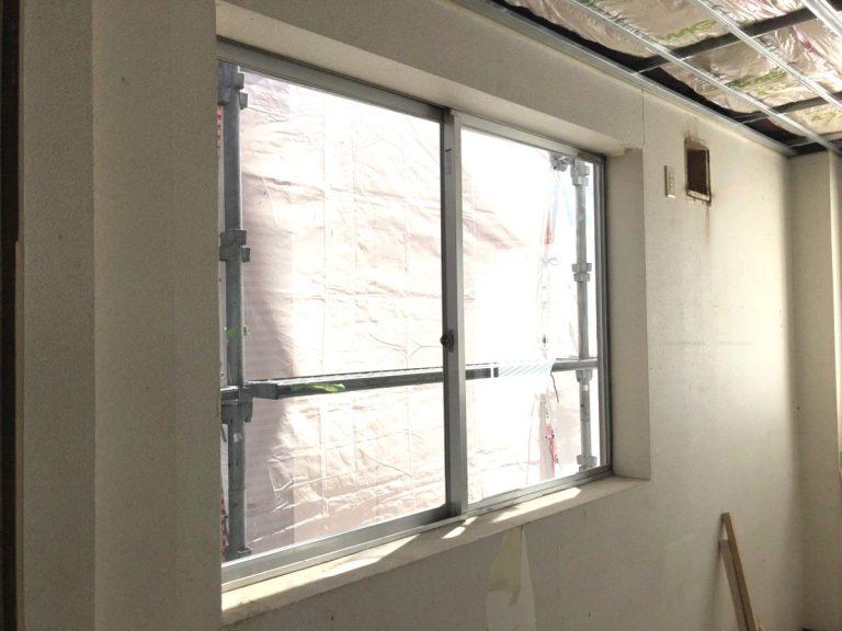 【ガラス取替・ビード修理】事務所窓を透明窓ガラスに取替 名古屋市港区