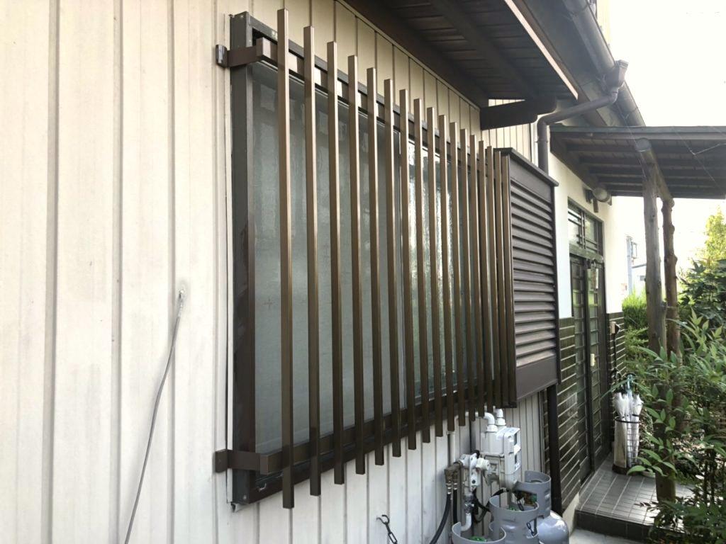 【窓の防犯対策】雨戸のある窓への面格子取付 名古屋市天白区