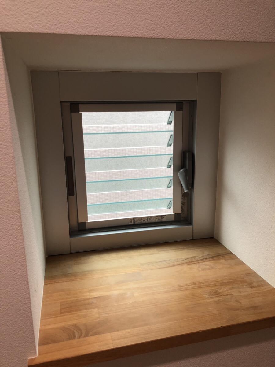 【サッシ取替】カバー工法により前倒し窓をルーバー窓へ取替 名古屋市西区