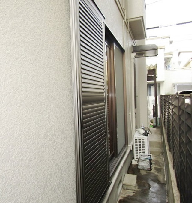 名古屋市瑞穂区 不二サッシ エコシリーズ エコ雨戸 ステングレー