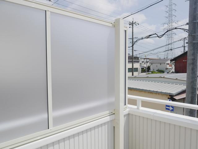 名古屋市天白区 LIXIL スピーネ2階ベランダ目隠し工事