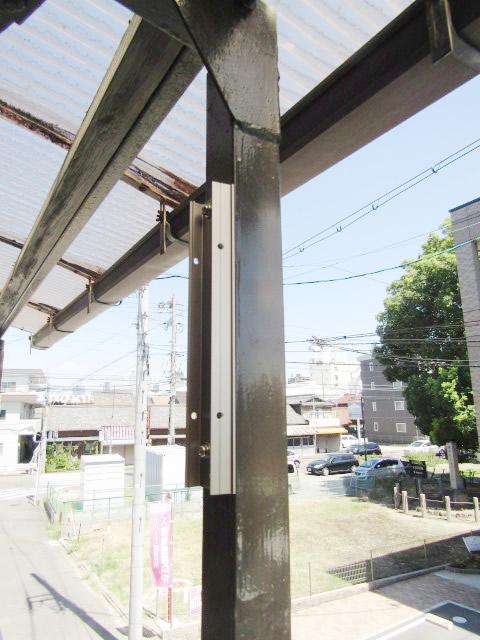 名古屋市中川区 屋外物干し 上下可動タイプ 取付工事