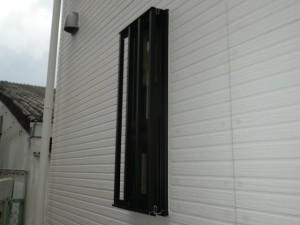 面格子取付前の既設窓