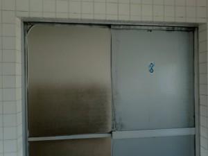 取替前 浴室引戸 上枠