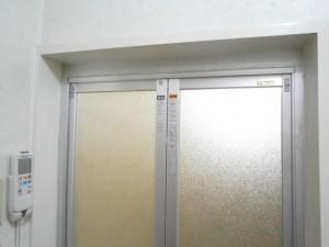 新設浴室ドア 脱衣所側