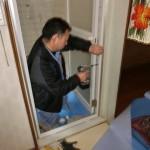 名古屋市守山区 浴室中折れドア
