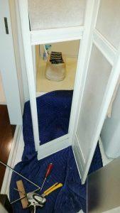 名古屋市港区 浴室中折れ戸 パネル交換工事